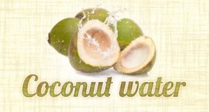 raw coconut water